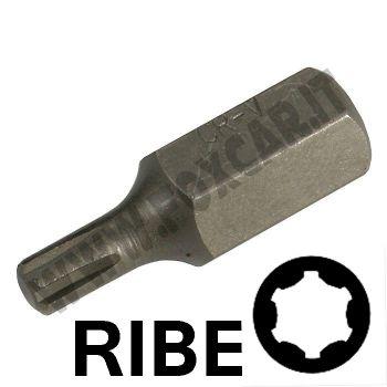 Chiavi a inserto con impronta RIBE M8 esagono 10 mm, lunghezza totale 30 mm