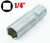 Chiave a bussola esagonale serie lunga da 14 mm attacco da 1/4