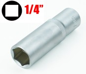 Chiave a bussola esagonale serie lunga da 6 mm attacco da 1/4