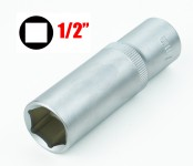 Chiave a bussola esagonale serie lunga da 17 mm attacco da 1/2