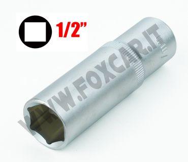 Chiave a bussola esagonale serie lunga da 19 mm attacco da 1/2