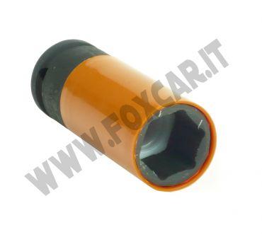 Chiave a bussola per cerchi da 22 mm con protezione salva cerchi