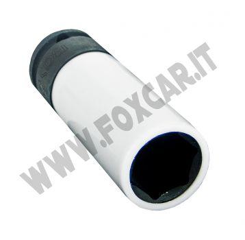 Chiave a bussola per cerchi da 19 mm con protezione salva cerchi