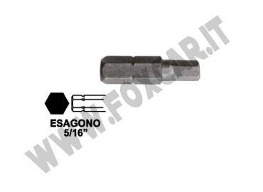 Chiavi a inserto con impronta brugola da 6 mm, esagono 5/16 e lunghezza totale 30   mm