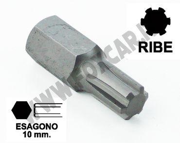 Chiavi a inserto con impronta RIBE M4 esagono 10 mm, lunghezza totale 30 mm