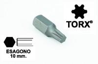 Chiavi a inserto con impronta TORX 25, esagono 10 mm, lunghezza totale...