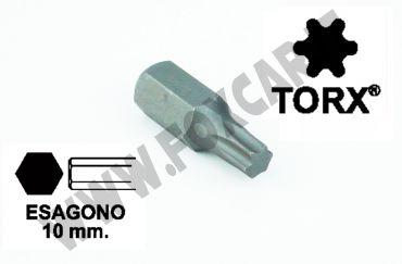 Chiavi a inserto con impronta TORX 25, esagono 10 mm, lunghezza totale 30 mm