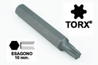 Chiavi a inserto con impronta TORX 25 esagono 10 mm, lunghezza totale ...