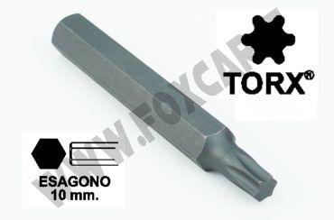 Chiavi a inserto con impronta TORX 45 esagono 10 mm, lunghezza totale 75 mm