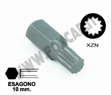 Chiavi a inserto con impronta XZN M10 esagono 10 mm lunghezza totale 30 mm