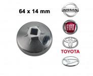 Chiave a tazza per filtri olio per Nissan 64x14 mm in alluminio