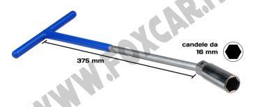 Chiave candele da 16 mm con snodo