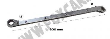 Chiave doppia a cricchetto sfasata per candelette 8 e 10 mm