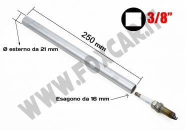 Chiave candela 16 mm lunga