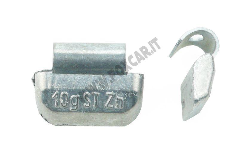 contrappeso clip-on della lega di alluminio del peso della ruota dellacciaio di stile di 25g//0.88oz P Pesi dequilibratura della ruota della gomma di 40pcs di KIMISS