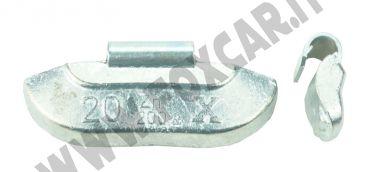 Contrappesi universali in zinco per cerchi in acciaio da 20 grammi