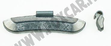 Contrappesi universali in zinco per cerchi in acciaio non plastificati 35 grammi