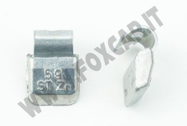 Contrappesi universali in zinco per cerchi in acciaio non plastificati 5 grammi