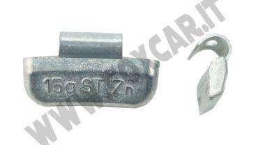 Contrappesi universali in zinco per cerchi in lega da 15 grammi