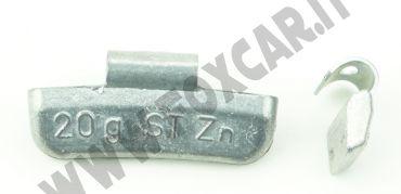 Contrappesi universali in zinco per cerchi in lega non plastificati, da 20 Gr