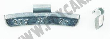 Contrappesi universali in zinco per cerchi in lega non plastificati, da 30 Gr