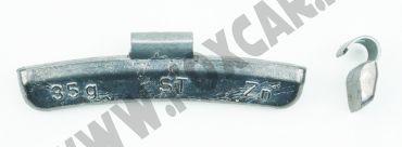 Contrappesi universali in zinco per cerchi in lega non plastificati, da 35 Gr